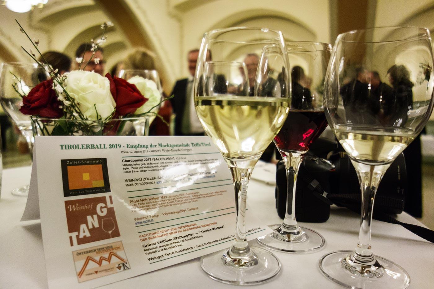 Tiroler Wein beim Tirolerball in Wien / 2019 01 12